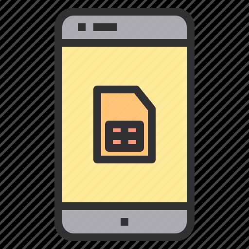 electronic, home, sim, smart, technology icon