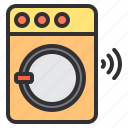 electronic, home, machine, smart, technology, washing icon