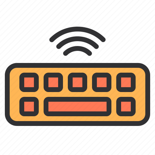 electronic, home, keyboard, smart, technology, wireless icon