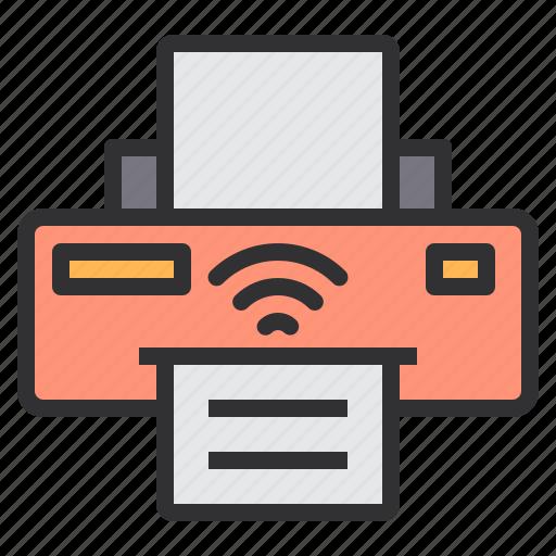 electronic, home, printer, smart, technology, wireless icon