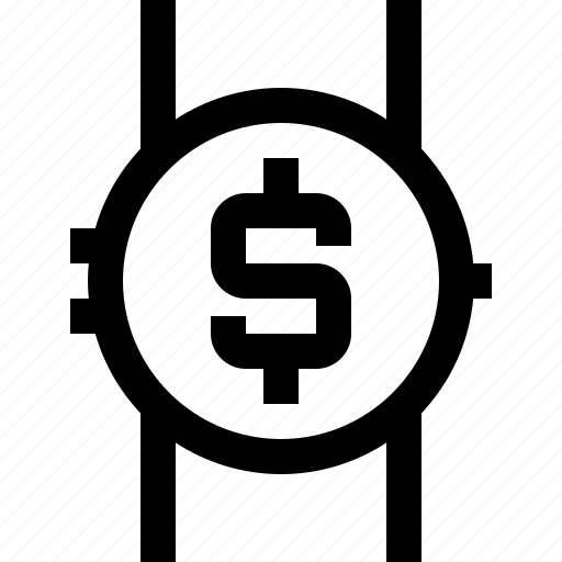 device, money, smartwatch, technology, time icon