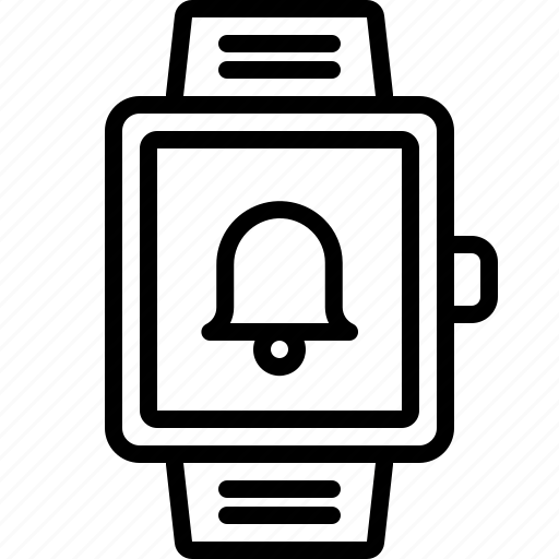 alarm, bell, notification, ring, smartwatch icon