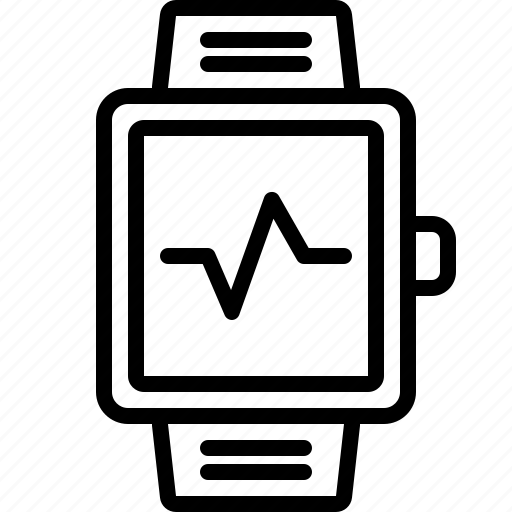 health, heartbeat, run, running, smartwatch icon