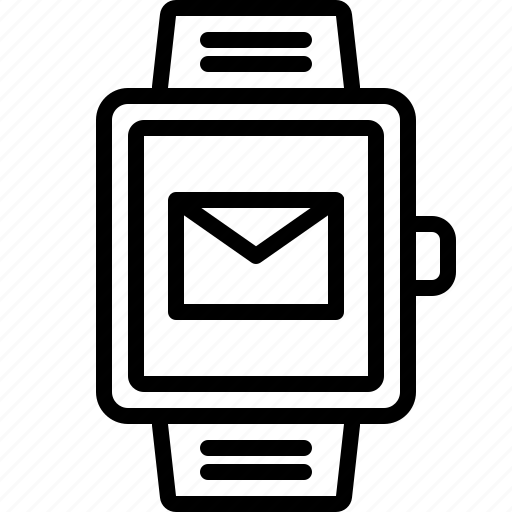 email, envelope, letter, mail, marketing, message, smartwatch icon