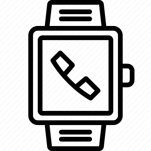 answer, call, hang, phone, smartwatch, talk, telephone icon
