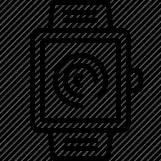 percentage, process, progress, smartwatch icon
