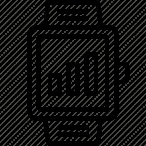 bar, grow, health, level, percentage, smartwatch, statistic icon