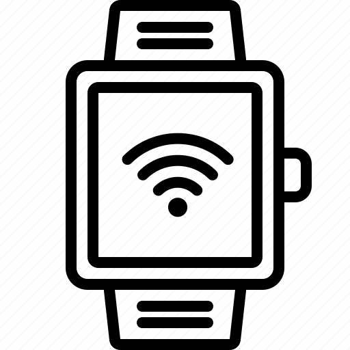 connection, fast, internet, signal, smartwatch, wifi icon