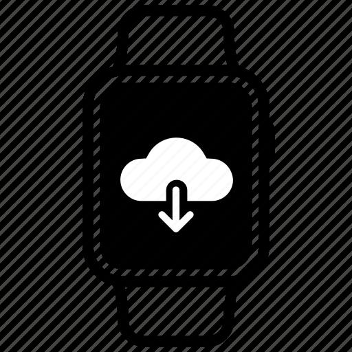 arrow, cloud, document, download, file, guardar, save icon
