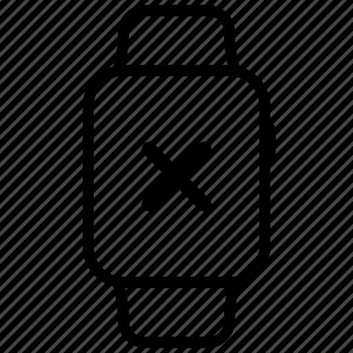 cancel, close, delete, exit, remove, watch icon