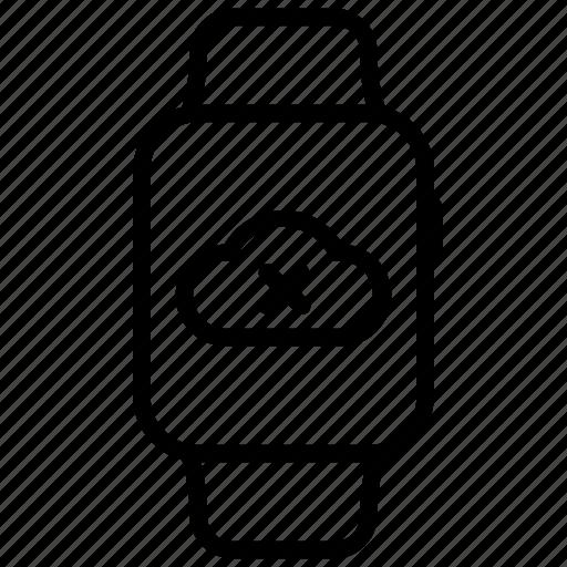 arrow, cloud, error, fail, failed, load, watch icon