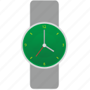 dial, green, hand, modern, smart, watches icon