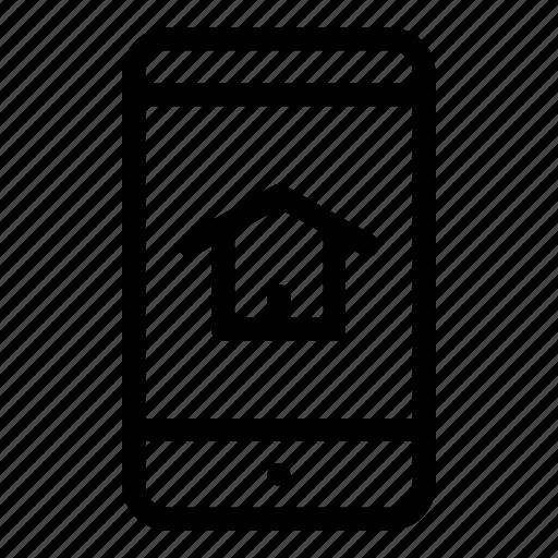 app, domotics, home, intelligence, smart home, smart house, smartphone icon