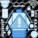 alert, battery, charge, danger, error, notification, warning