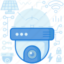 camera, device, electronic, home, house, safety, security icon