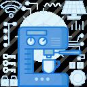 appliance, coffee, cup, device, drink, machine, mug icon