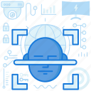 face, facial, privacy, protection, scan, security, smarthome icon
