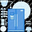 appliance, device, electronic, fridge, home, kitchen, storage icon