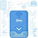 connect, connection, key, lock, smart, smarthome, wireless icon