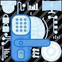 code, handle, home, keycode, keypad, safety, security icon
