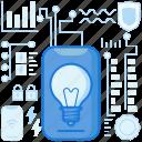 bulb, control, light, lightbulb, lighting, smarthome, smartphone icon