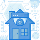 camera, home, house, lens, protection, safety, security icon