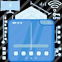 control, key, monitor, screen, smarthome, wifi, wireless icon