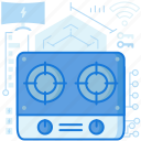 appliance, burner, cooking, device, kitchen, smarthome, stove icon