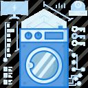 appliance, home, house, laundry, machine, smarthome, washing icon