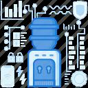 appliance, beverage, bottle, cooler, drink, machine, water icon