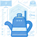 beverage, canister, drink, heater, smarthome, water icon