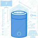 bluetooth, device, electronic, robotic, speaker, wireless icon