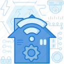 connection, control, home, house, settings, smarthome, wireless icon