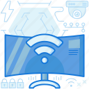 connect, connection, screen, television, tv, wifi, wireless icon