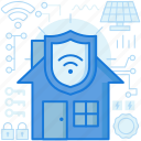 protection, safety, security, shield, smarthome, wifi, wireless icon