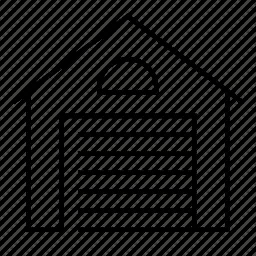 door, filling station, garage, garage door, hangar, roller, smarthome icon