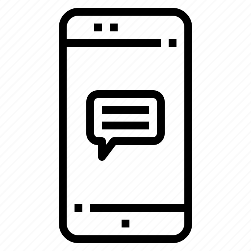 chat, connection, mobile, online, smartphone icon