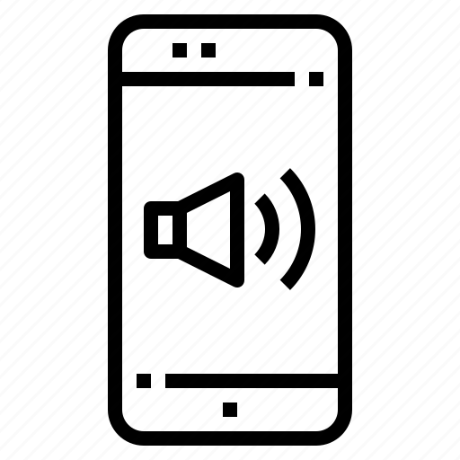 connection, mobile, online, smartphone, sound icon