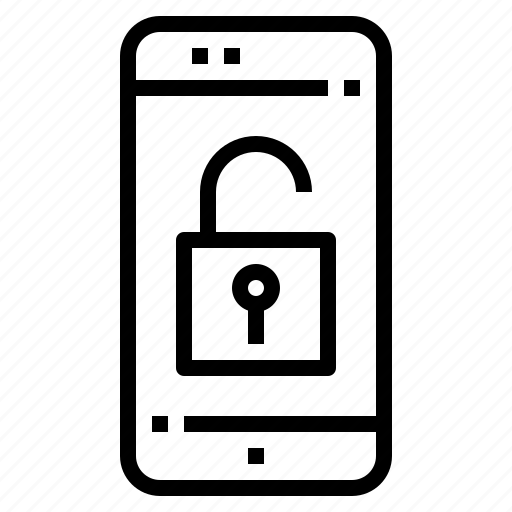 connection, mobile, online, smartphone, unlock icon
