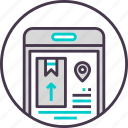 box, delivery, device, logistics, mobile, phone, smartphone icon