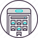 device, gallery, mobile, phone, photo, smartphone icon