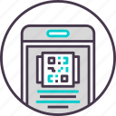 code, device, mobile, phone, qr, smartphone icon