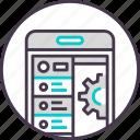 app, coding, development, device, mobile, phone, smartphone icon