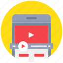 device, media, mobile, movie, phone, smartphone, video icon