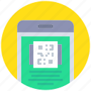 code, coding, device, mobile, qr, shopping, smartphone icon