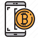 app, application, bitcoin, mobile, phone, smartphone icon