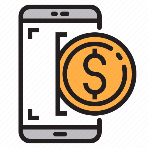 app, application, dollar, mobile, phone, smartphone icon