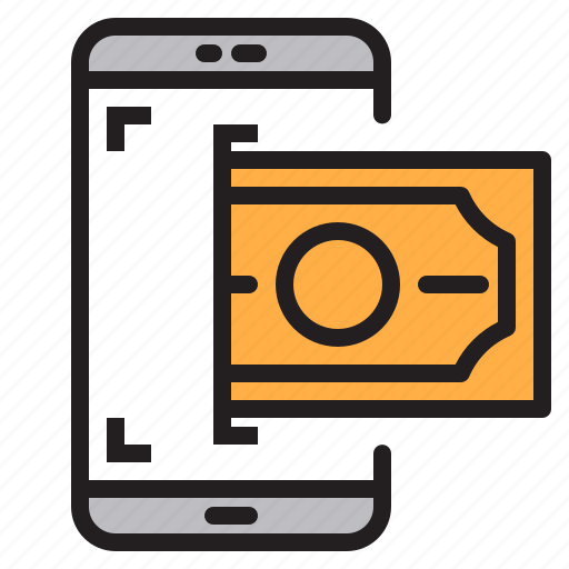 app, application, mobile, money, phone, smartphone icon