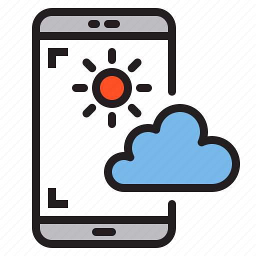 app, application, mobile, phone, smartphone, weather icon