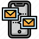 mail, message, mobile, phone, communications